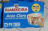 Тунец в подсолнечном масле Rianxeira Atun Claro En Aceite De Girasol упаковка 6*80 г Испания, фото 2