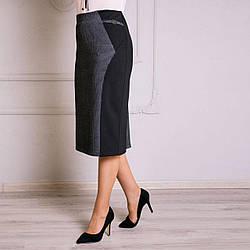 Комбинированная женская  юбка «Абба» большого размера