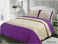 Покрывало стеганое ALBO210x230 cm +наволочки 50x70 cm (2 шт) Фиолетовое P-(M17-13-2), фото 1