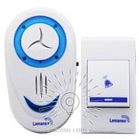Звонок Lemanso 230V LDB46 белый с синим