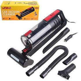 Пылесос автомобильный VOIN V-80 влажная и сухая чистка, 2 мотора, LED подсветка