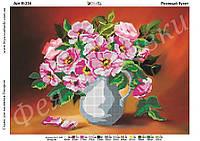 Схема для частичной зашивки бисером - розовый букет