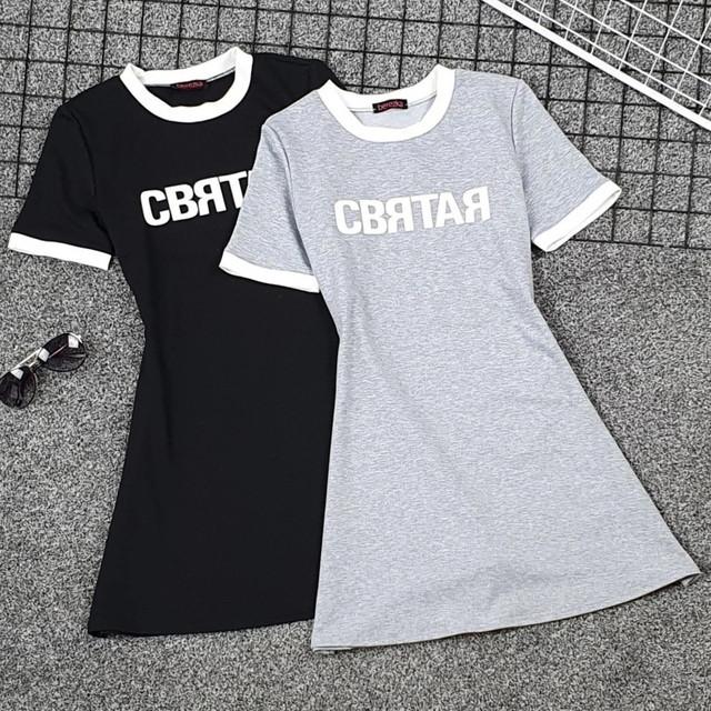 Женское летнее платье тенниска из двунитки расклешенное короткое платье футболка