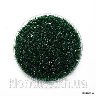 Бисер Рубка (5/0), Некалиброванный, Цвет: Темно Зеленый (50 грамм)