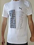 Футболка чоловіча Puma біла, електрик, сіра, фото 2