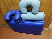 Складная кушетка для наращивания ресниц / Кушетка массажная. 185х60 см. Эко-кожа Украина, Эконом