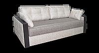 Бежевый диван Николь фабрики Нота с деревянными подлокотниками, фото 1