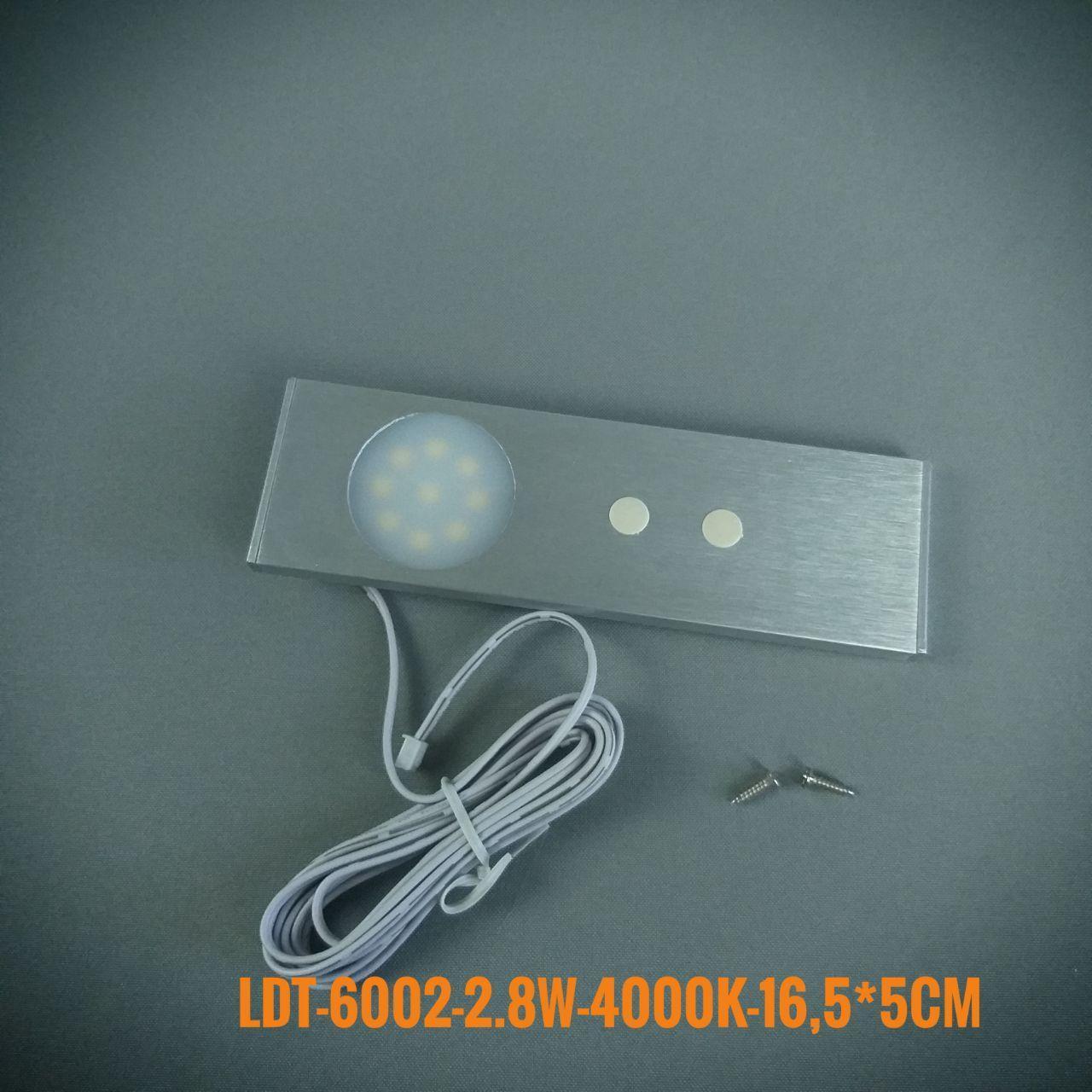 Мебельный встраиваемый светильник LDT-6002 W 2,8Wt