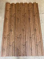 Профнастил с рисунком дерево ВЕНГЕ 3Д размер листа 2 м Х 1,16м, фото 2