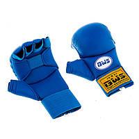 Накладки для карате BWS4008, L синій..