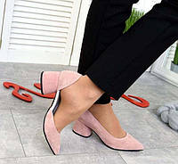 Изящные женские туфли на низком каблуке разные цвета 2902ТОПС