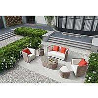 Элитная плетеная садовая мебель SET. Дизайнерский комплект мебели OXFORD LOUNGE SET RENGARD. Уличная мебель