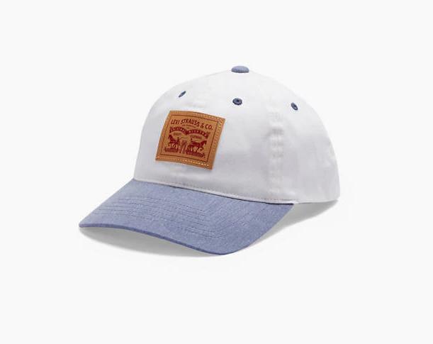 Джинсовая бейсболка Two-Horse Patch Denim Baseball Cap - WHITE MULTI