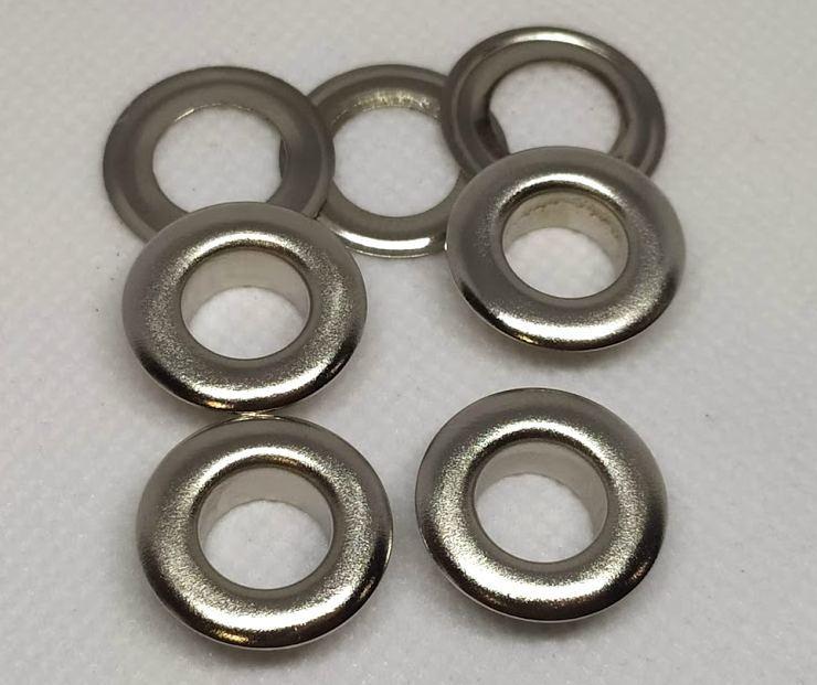 Люверс 10 мм никель ( в упаковки 1000 штук )