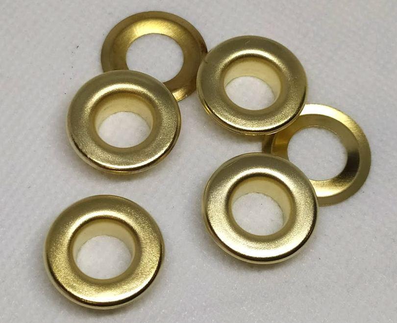 Люверс 10 мм золото ( в упаковки 1000 штук )