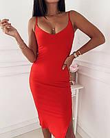 Женское летнее платье на бретелях, фото 1