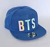 Кепка snapback BTS синя, фото 2