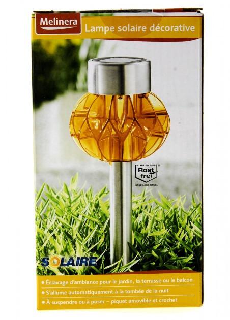 Светильник декоративный уличный на солнечной батарее Melinera желтый
