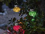 Светильник декоративный уличный на солнечной батарее Melinera синий, фото 4