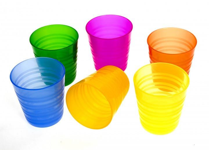 Набор пластиковых стаканов (6 шт.) ERNESTO разноцветный