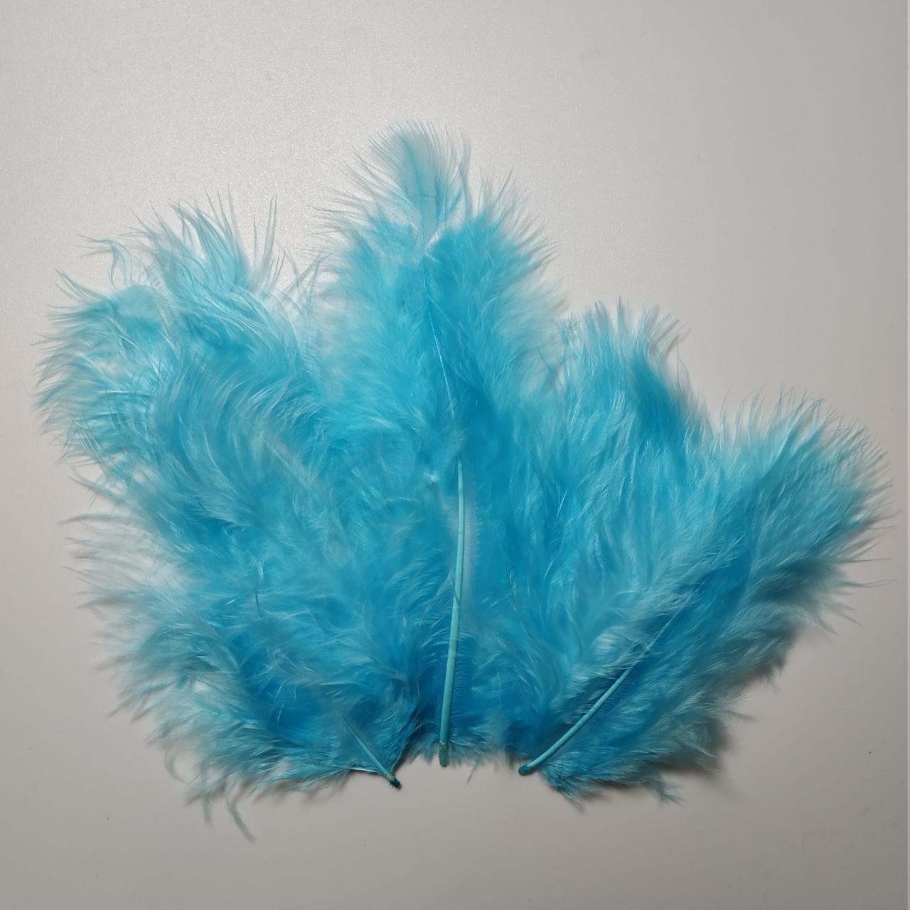 Декоративные перья SoFun 5-10 см тиффани 100 шт