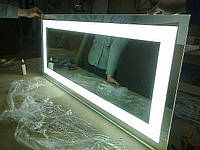 Зеркало со скрытой подсветкой на заказ. Зеркало оборудовано самыми яркими светодиодами - прекрасно освещает лицо и подходит для нанесения макияжа, бритья и т.д.