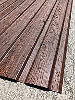 Профнастил с рисунком деревоВЕНГЕ 3Д размер листа 1,75 м Х 1,16м, фото 2