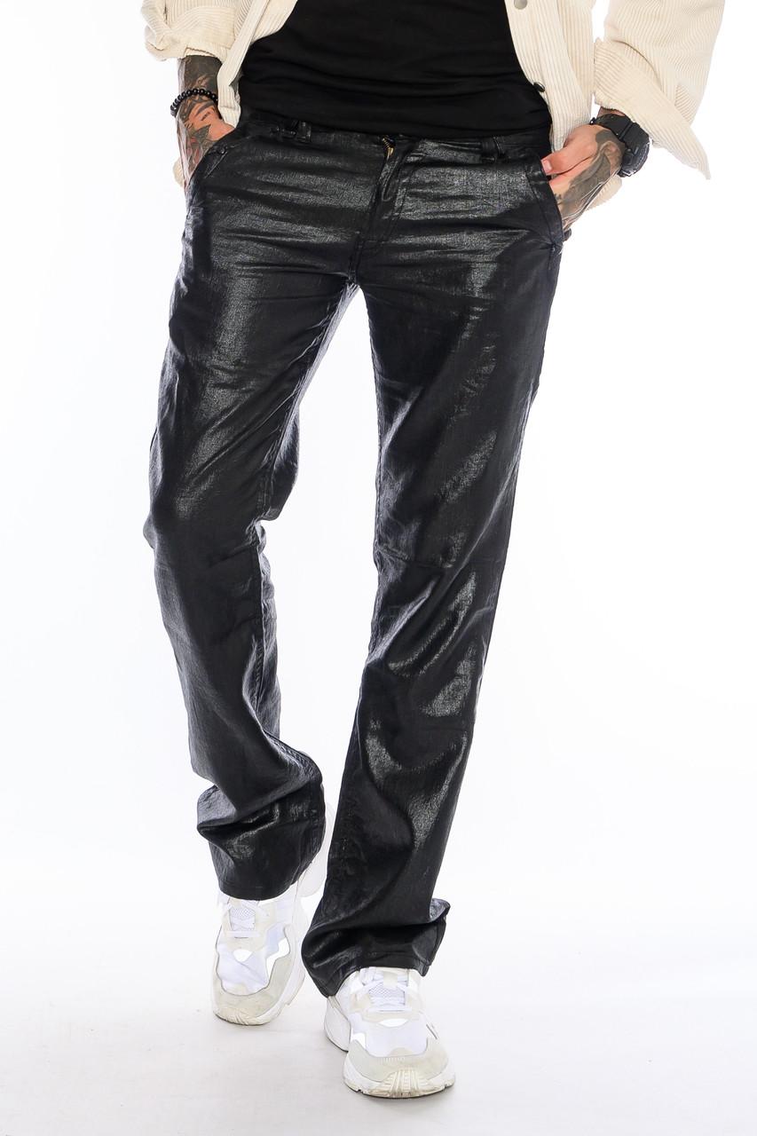 Мужские брюки Franco Benussi FB 1148-530 лен черные