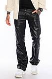 Мужские брюки Franco Benussi FB 1148-530 лен черные, фото 4