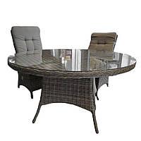 Элитная плетеная садовая мебель SET. Комплект ABBEY DINING SET RENGRAD (стол и кресло 2 шт). Уличная мебель