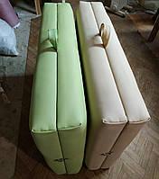 Кушетка складная для массажа / Кушетка массажная чемодан. 185х60 см. Эко-кожа Польша, Стандарт 40 мм поролон
