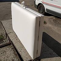 Кушетка стационарная складная /Кушетка косметологическая. 185х60 см. Эко-кожа Польша, Стандарт 40 мм поролон