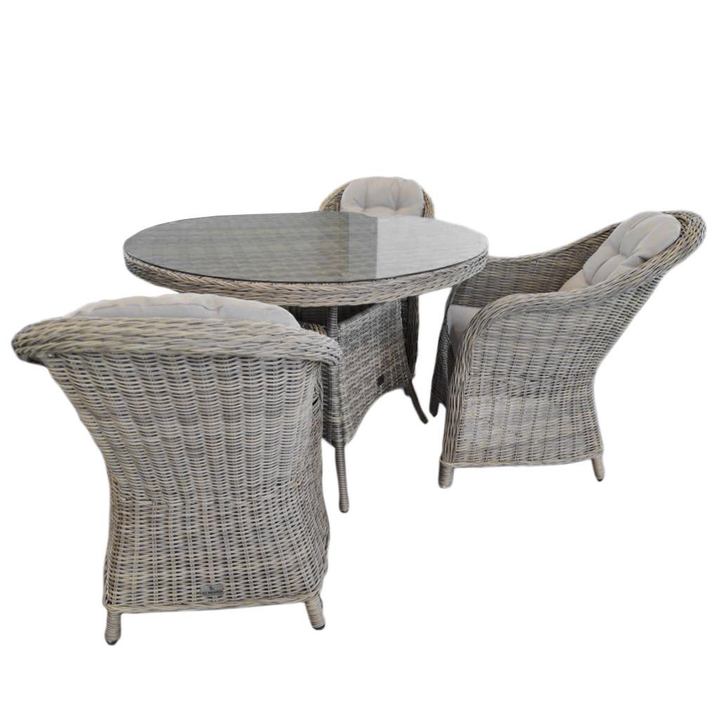 Элитная плетеная садовая мебель SET. Комплект AMY DINING SET RENGARD (стол и кресло 3 шт). Уличная мебель