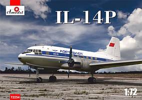 Пассажирский самолет Ил-14П. 1/72 AMODEL 72254