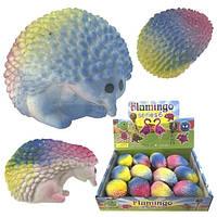 Мягкая игрушка антистресс для рук разноцветная Ёжик 12 шт