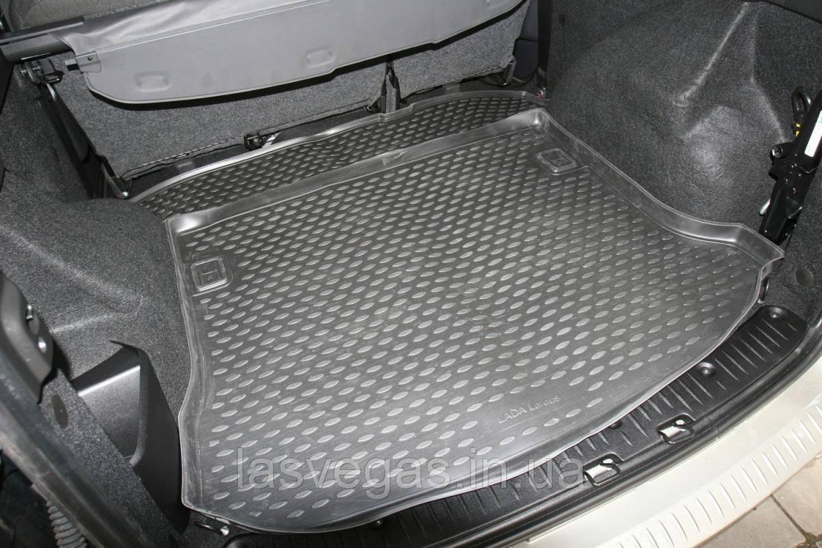 Коврик в багажник  LADA Largus 2012- ун. 5 мест. (полиуретан)