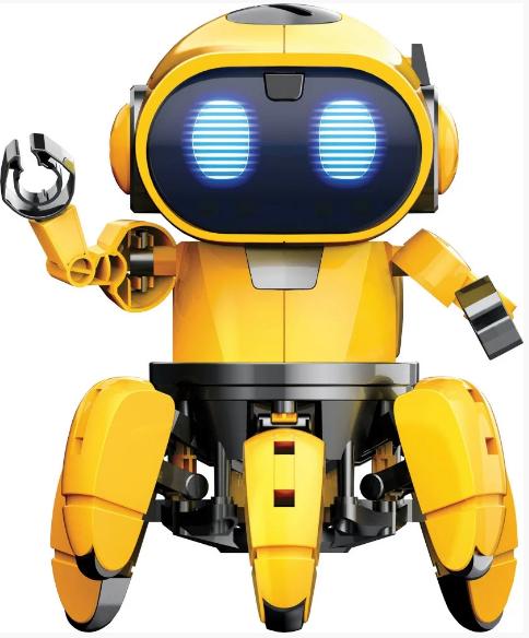 Робот Тобби на радиоуправлении| Интерактивный робот конструктор| Умный робот для детей  на 6 ножках PR4