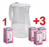 Фильтр-кувшин Аквафор Прованс A5 для очистки питьевой воды с четырьмя картриджами A5 Mg. Фильтр для воды