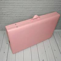 Кушетка для массажа чемодан / Косметологическая кушетка. 185х60 см. Эко-кожа Польша, Стандарт 40 мм поролон