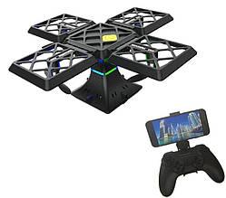 Квадрокоптер трансформер Black Knight Cube 414 з wifi камерою | Дрон-куб на дистанційному управлінні PR5