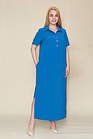 Довге плаття - сорочка батал від виробника. Опт і роздріб. Розмір 52, 54, 56, 58, фото 1