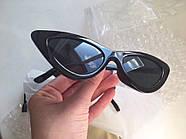 Солнцезащитные очки Cat Eye Retro Black, фото 4