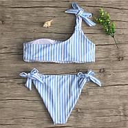 Женский купальник blue-white размер S, фото 4