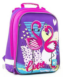 """Рюкзак школьный ортопедический, каркасный, «YES» """"Flamingo"""" H-12, 558017"""