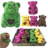 Разноцветная игрушка антистресс для рук Медвежонок 12 шт