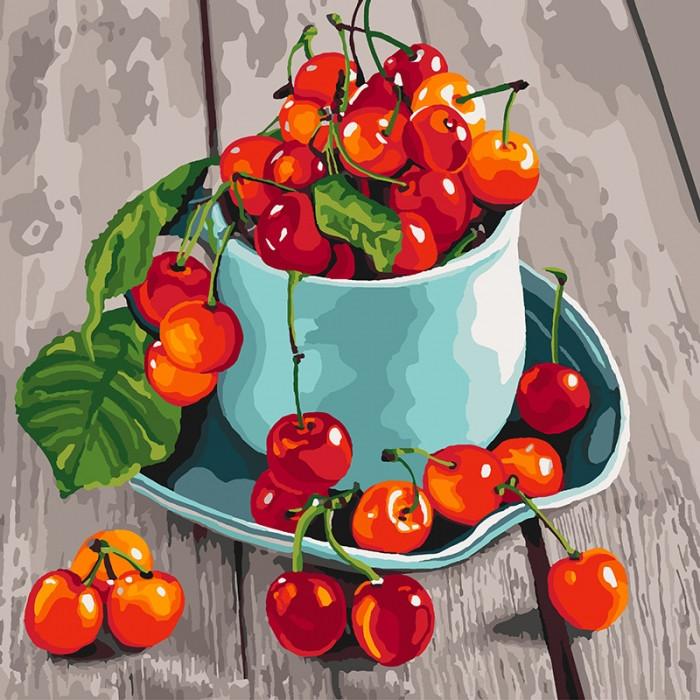 Картина по номерам  Черешневые вкусности ТМ Идейка 40 х 40 см КНО5552