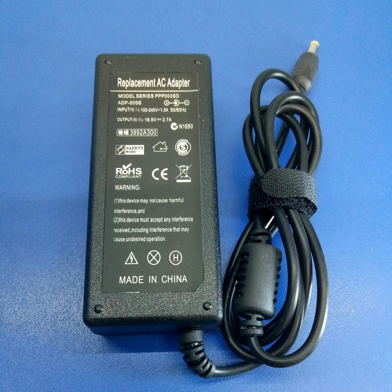 Блок живлення до ноутбука HP/Compaq 18,5V2,7A 4,8*1,7 (HP/Compaq) {o0o}50W