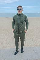 Спортивный костюм мужской на змейке с капюшоном весна осень 2020 Хаки