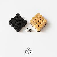Набор фишек и кубиков для нард, шашек ручной работы