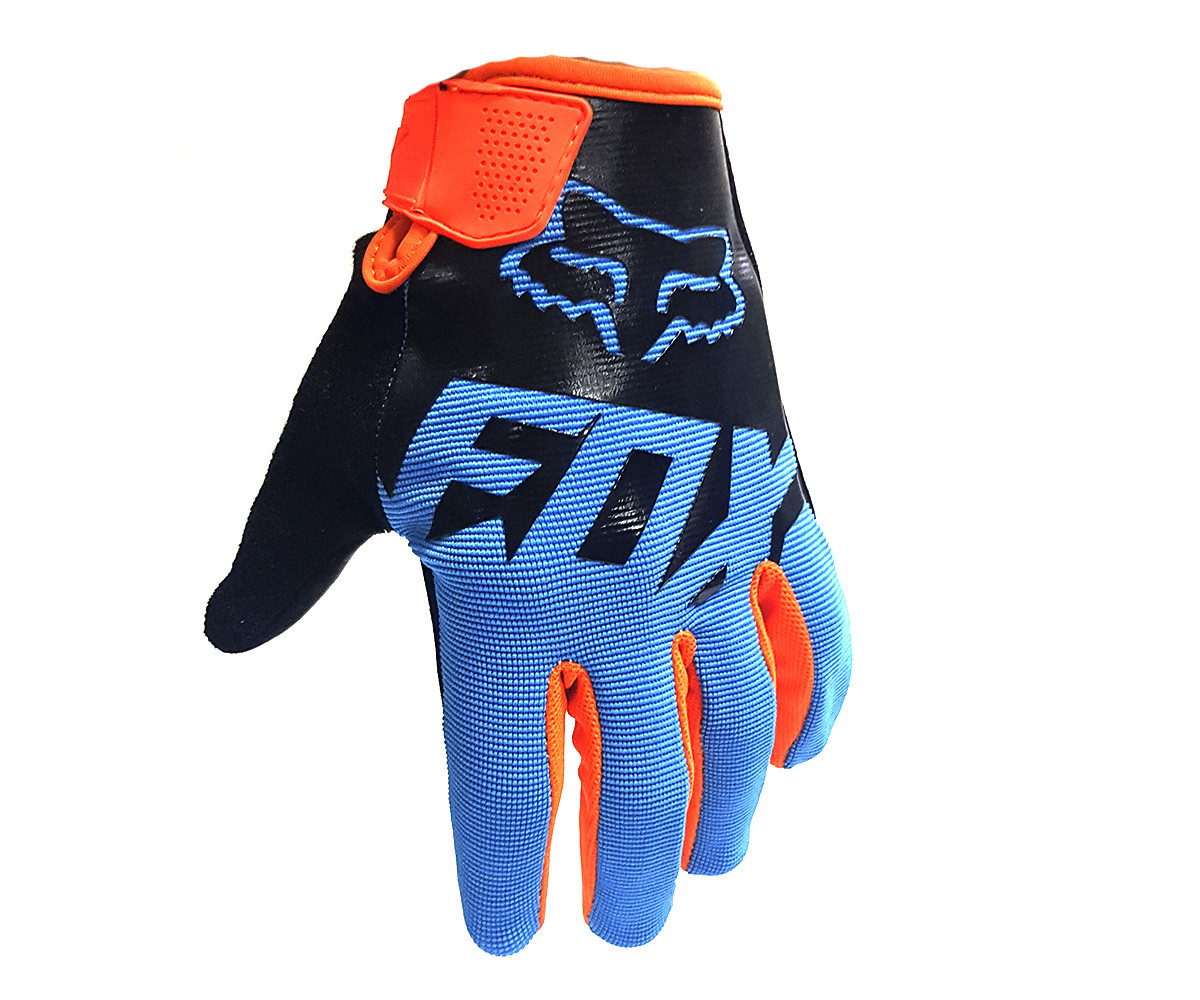 Мотоперчатки FOX Dirtpaw 2020 Orange Blue Replica